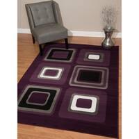 "Westfield Home Montclaire Contemporary Color Blocks Lilac Area Rug - 7'10"" x 10'6"""