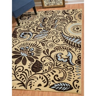 "Westfield Home Montclaire Ginger Black Area Rug - 7'10"" x 10'6"""