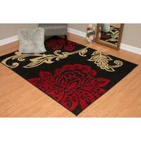 "Westfield Home Montclaire Modern Floral Blue Area Rug - 7'10"" x 10'6"""