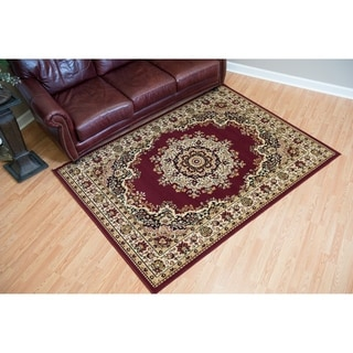 "Westfield Home Montclaire Burgundy Traditional Oriental Area Rug - 7'10"" x 10'6"""