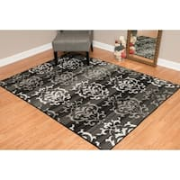 Westfield Home Montclaire Germaine Grey/Black/White Area Rug (7'10 x 10'6)