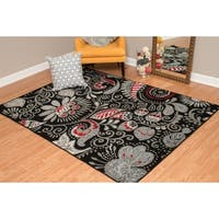 """Westfield Home Montclaire Circle Block Red Area Rug - 7'10"""" x 10'6"""""""