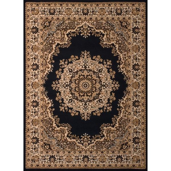 Westfield Home Montclaire Black Traditional Oriental Area Rug (7' 10 x 10' 6)