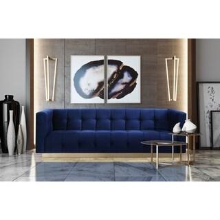 Roma Navy Velvet Sofa
