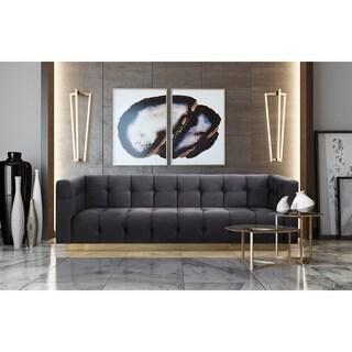 Roma Grey Velvet Sofa