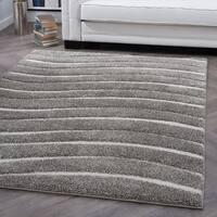 Alise Rugs Waverly Shag Contemporary Stripe Area Rug - 6'7 x 9'6