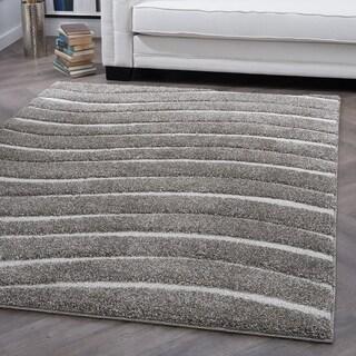 Alise Rugs Waverly Shag Contemporary Stripe Area Rug - 7'10 x 9'10