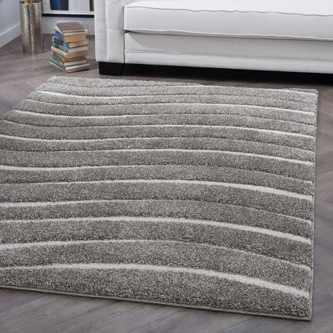 Alise Rugs Waverly Shag Contemporary Stripe Area Rug - 7'10 x 9'10