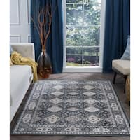 Alise Rugs Carrington Traditional Oriental Area Rug - 7'6 x 9'10