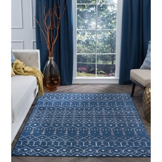 Alise Rugs Carrington Transitional Geometric Area Rug (7'6 x 9'10)