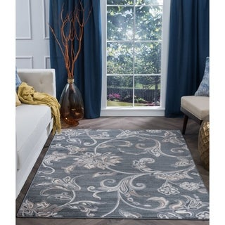 "Alise Rugs Carrington Transitional Floral Area Rug - 7'6"" x 9'6"""