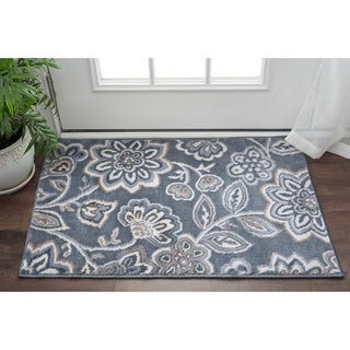 Link to Alise Rugs Carrington Transitional Floral Runner Rug Similar Items in Shabby Chic Rugs