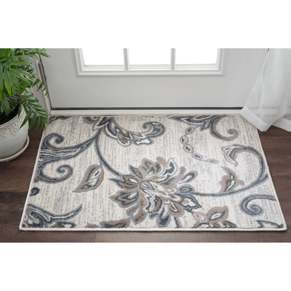 Alise Rugs Carrington Transitional Floral Scatter Rug (2' x 3') - 2' x 3'