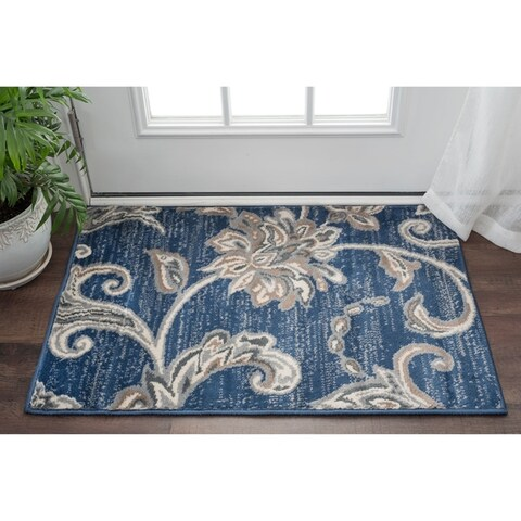 Alise Rugs Carrington Transitional Floral Scatter Mat Rug