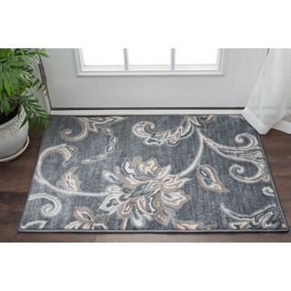 Alise Rugs Carrington Transitional Floral Scatter Rug - 2' x 3'