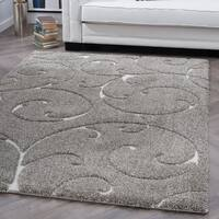 Alise Rugs Waverly Shag Transitional Scroll Area Rug - 9'3 x 12'6