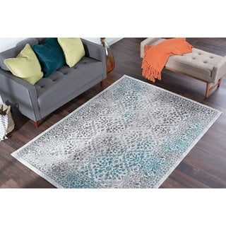 Alise Rugs Montez Transitional Brocade Area Rug