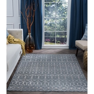 Alise Rugs Carrington Transitional Geometric Area Rug