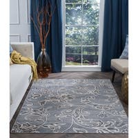 Alise Rugs Carrington Transitional Floral Area Rug - 9'3 x 12'6