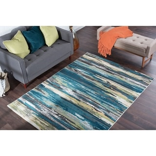 Alise Rugs Montez Contemporary Stripe Area Rug - 9'3 x 12'6