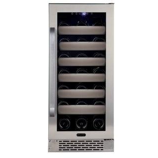 Whynter Elite 33 Bottle Seamless Stainless Steel Door Single Zone Built-in Wine Refrigerator