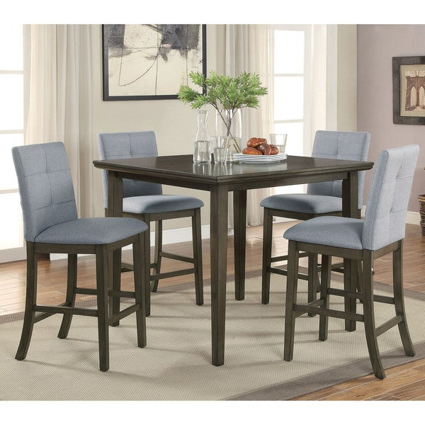 furniture of america geven midcentury modern 5piece counter height dining set