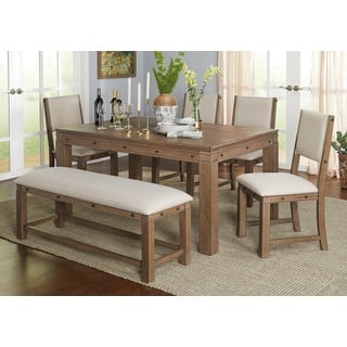 Clearance Simple Living Kinley Greyed Walnut 6 Piece Dining Set
