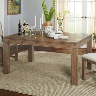 Simple Living Kinley Grey Walnut Finish Dining Table   N/A