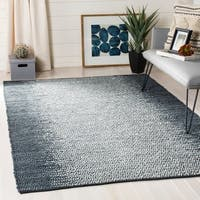 Safavieh Hand-Woven Vintage Leather Grey/ Cream Leather Rug - 4' x 6'