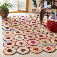 Safavieh Hand-Woven Cape Cod Red/ Natural Jute Rug - 5' x 8'