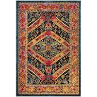 Safavieh Cherokee Bohemian Turquoise/ Light Orange Rug - 6' x 9'