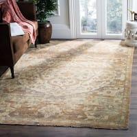 Safavieh Hand-Knotted Izmir Gold/ Rose New Zealand Wool Rug (6' x 9')