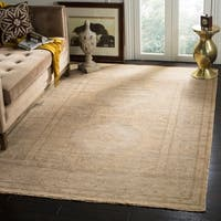 Safavieh Hand-Knotted Izmir Gold/ Grey New Zealand Wool Rug - 6' x 9'