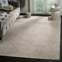 Safavieh Hand-Woven Marbella Taupe/ Ivory Polyester Rug - 6' x 9'