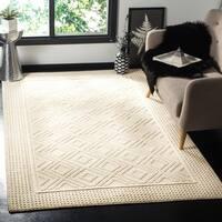 Safavieh Hand-Woven Vermont Ivory Wool Rug - 6' x 9'