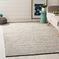 Safavieh Hand-Woven Vintage Leather Beige Leather Rug - 5' x 8'