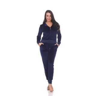 White Mark Women's Fitted Velour 2 Piece Set (More options available)