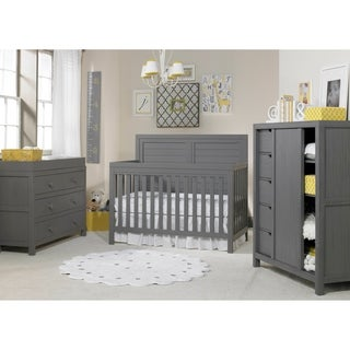 Ti Amo Castello 4-in-1 Convertible Crib Weathered Grey