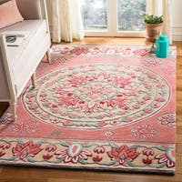 Safavieh Handmade Bellagio Red/ Beige Wool Rug - 8' x 10'