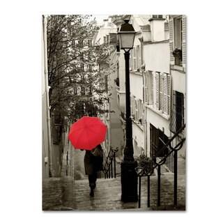 Sue Schlabach 'Paris Stroll II' Canvas Art (As Is Item)