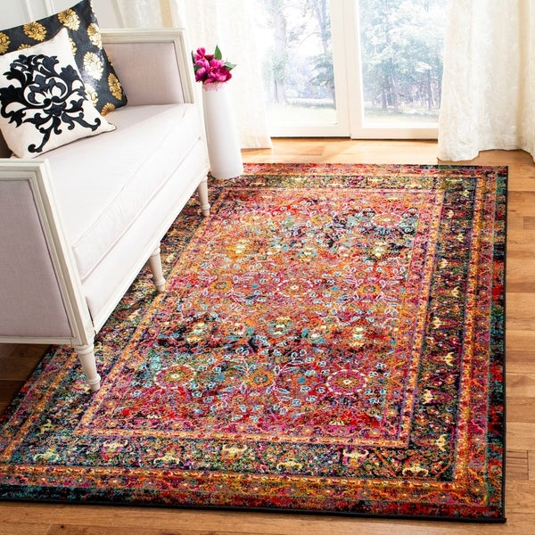 Shop Safavieh Cherokee Bohemian Oriental Red Black Rug