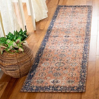 Safavieh Classic Vintage Rust/ Navy Cotton Rug - 8' x 10'