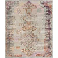 Safavieh Crystal Light Grey/ Purple Rug - 10' x 14'