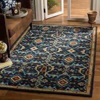 Safavieh Handmade Heritage Navy/ Multi Wool Rug (8' x 10') - 8' x 10'