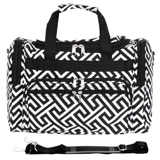 World Traveler Greek Key 16-Inch Lightweight Carry-On Duffle Bag