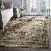 Safavieh Hand-Knotted Izmir Charcoal/ Stone New Zealand Wool Rug - 9' x 12'