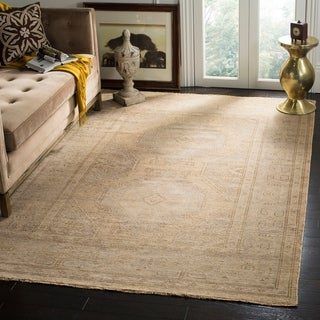 Safavieh Hand-Knotted Izmir Gold/ Grey New Zealand Wool Rug (9' x 12')