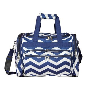 World Traveler Chevron 16-Inch Lightweight Carry-On Duffle Bag