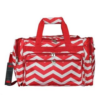 World Traveler Chevron 16-Inch Lightweight Carry-On Duffle Bag