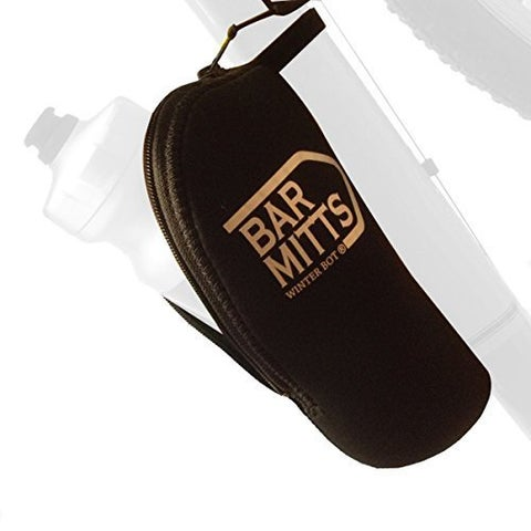 Bar Mitts Winter Bot Neoprene Bicycle Water Bottle Cover Enclosure with Water Bottle Cage & Accessories, Black